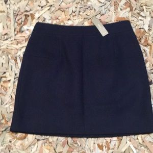 NWT J. Crew classic mini felted wool skirt blue 6